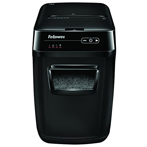 Fellowes AutoMax 130C 130-Sheet Cross-Cut Auto Feed Shredder, for Hands-Free Shredding (4680001) by Fellowes
