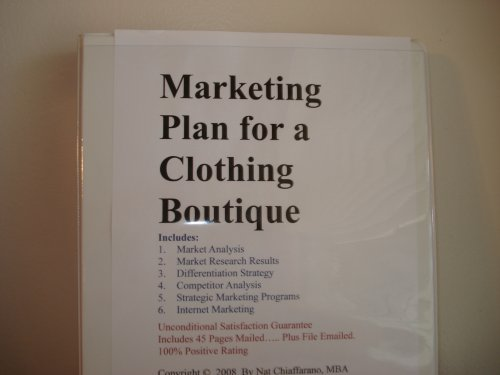 Marketing Plan for a Clothing Boutique (Fill-n-the-Blank Marketing ...