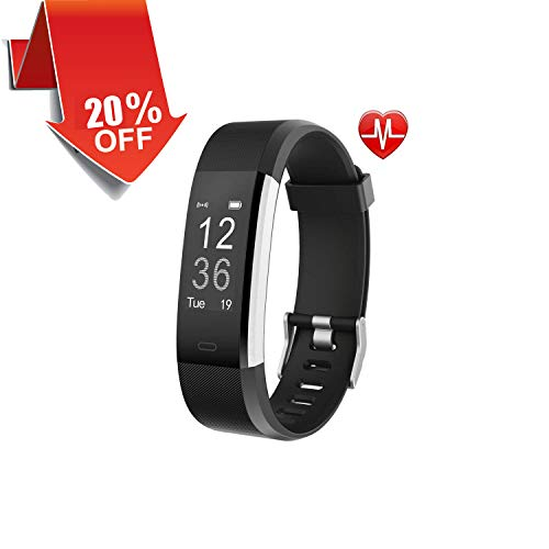 Sport Fitness Tracker,ID115HR Band Bluetooth Heart Rate Monitor Activity Tracker with Connected GPS Tracker, Sleep Monitor, IP67 Waterproof for Android and iOS Smartphone