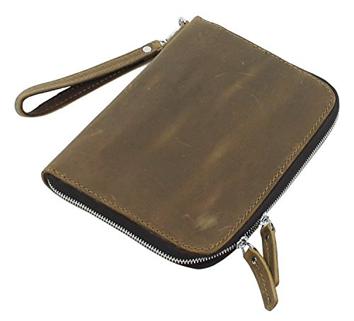 "Used, 9"" Cowhide Leather Mini-iPad Clutch Case Business Folder. for sale  Delivered anywhere in USA"