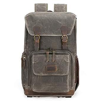 Mens Bag Liner Lens SLR Digital Camera Bag Seven-color Cotton Shoulder Camera Bag Retro Men And Women Waterproof Shoulder Bag High capacity (Color : Army Green)