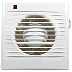 "Yosoo Extractor Fan Wall Mounted Ventilating Exhaust Fan For Home Kitchen Bathroom Toilet Window Wall (Hole Size:4"")"