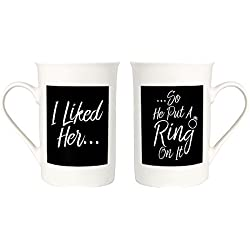 Cheeky Engagement or Wedding Mug Set I Liked Her - So He Put a Ring On It by Haysoms