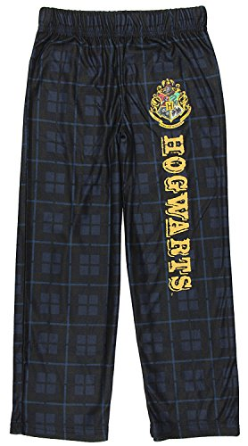 INTIMO Harry Potter Big Boys Houses Plaid Pajama Lounge Pants (Hogwarts, M-8)