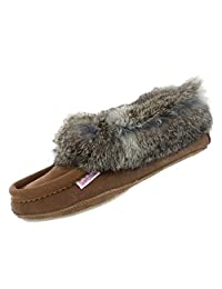 SoftMoc Women's Carrot Rabbit Fur Lined Moccasin