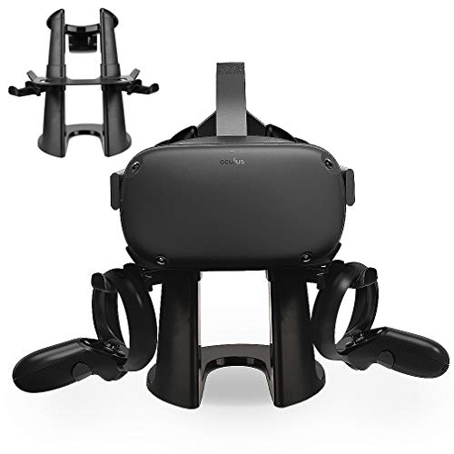 VR Stand Headset Display Holder and Controller Mount Station Compatible With Oculus Quest / Oculus Rift S Headset and Touch Controllers