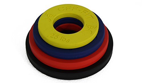 CFF Competition Rubber Fractional Weight Plates -.25, .5, .75, & 1 Lb Pairs - 5 Lb Set -