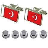 Select Gifts Shirt Dress Studs UMM al Qaiwan Flag Cufflinks