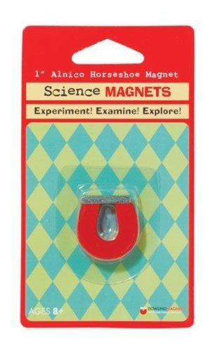 Red Horseshoe Magnet (Dowling Magnetics Small Horseshoe Magnet - 1 inch)