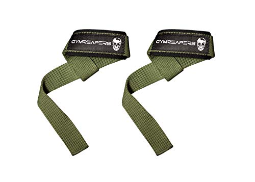 Lifting Wrist Straps for Weightlifting, Bodybuilding, Powerlifting, Strength Training, Deadlifts - Padded Neoprene with 18