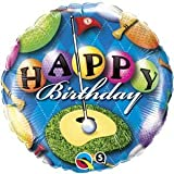 "Single Source Party Supplies - 18"" Birthday Golf Mylar Foil Balloon"