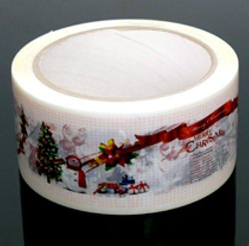 Weihnachtsverpackungsband 4,8 cm x 43,7 m dekoratives Weihnachtsverpackungsband