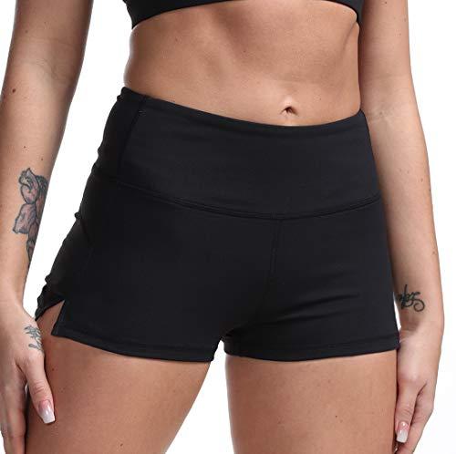 DILANNI Women Slip Shorts Black Bike Shorts Cotton Spandex Stretch Boyshorts for Yoga