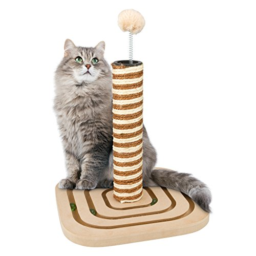 Cat Scratching Post, with Interactive Cat Toy