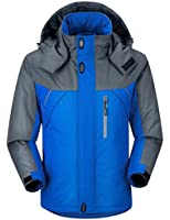 Ubon Men's Waterproof Mountain Jacket Fleece Windproof Ski