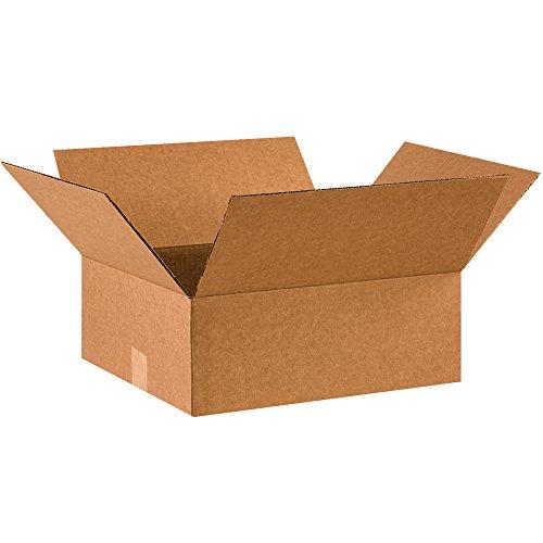 BOX USA B1614675PK Flat Corrugated Boxes, 16'' L x 14'' W x 6'' H, Kraft (Pack of 75) by BOX USA