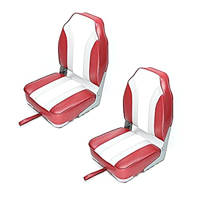 New Standard Stripe High Back Folding Fishing Boat Seat 4 color