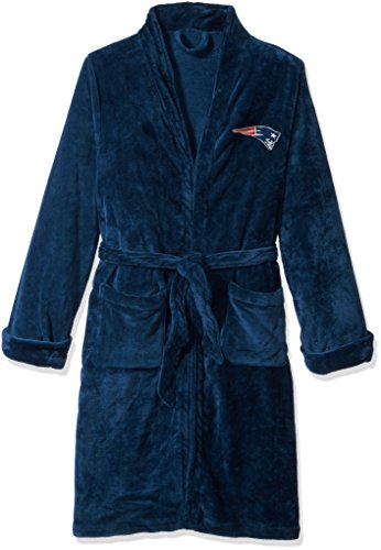 Blanket New England Patriots Soft (The Northwest Company Officially Licensed NFL New England Patriots Men's Silk Touch Lounge Robe, Large/X-Large)