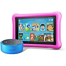 Echo Dot Kids Edition + Fire HD 8 Kids Edition (Blue/Pink)