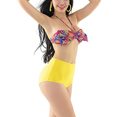 La Sra Cintura Del Arco Del Traje De Baño Bikini Atractivo De La Manera Multicolor 3