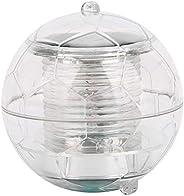 Luminária de piscina alimentada por energia solar, formato de bola, luz flutuante, acessório de festa aquática