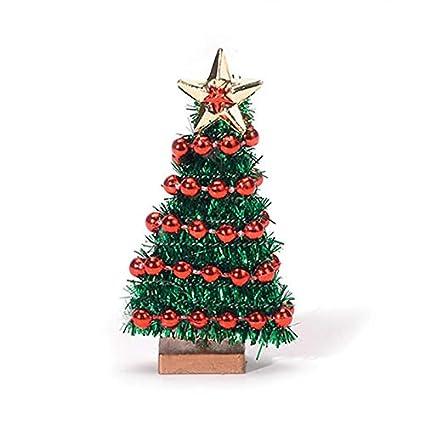 miniature flat back christmas tree with bead garland