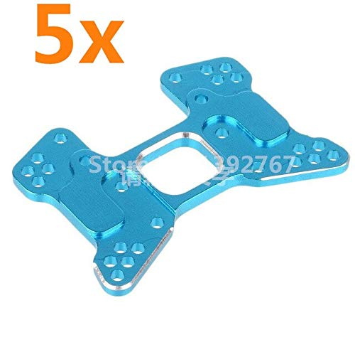 Hockus Accessories Wholesale 5Pcs/Lot Hobby Parts 166023 06059 Aluminum Rear Shock Tower Upgrade Parts for 1/10 RC Car 94166 Backwash - (Color: Blue) from Hockus