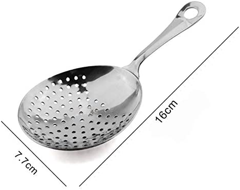 OHOME 1 PC Stainless Steel Bar Strainer Ice Drink Filter Spoon Strainer Cocktail Shaker Strainer Bartender Tools Accessories