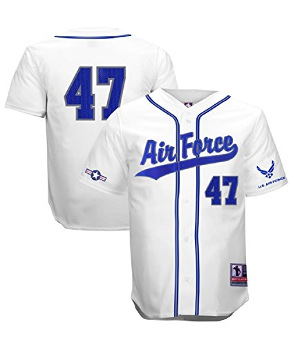 - Battlefield Collection Air Force Authentic Baseball Jersey Small White