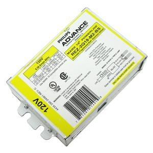 Advance Mark 10 Powerline REZ-2Q18-M2-BS - (2) Lamp Fluorescent Ballast - 18 Watt CFL - 120 Volt - Dimming - 1.0 Ballast Factor