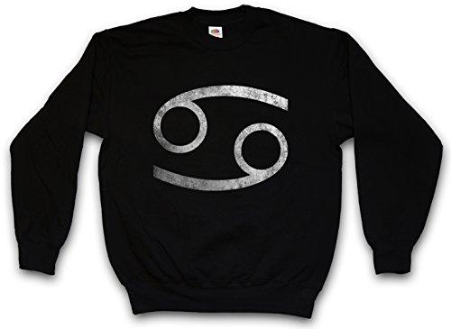 Zodiac Sign Crab Sweatshirt Pullover Sweater - Sizes S - 3XL Black