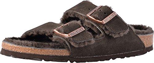 - Birkenstock Women's Arizona Shearling Lined Mocha-Mocha Suede Sandals, Mocha-Mocha, 38