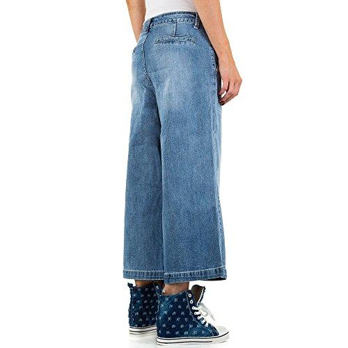 iTaL-dESiGn - Vaqueros - Pantalones Boot Cut - para mujer Azul