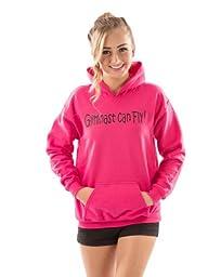 Lizatards Gymnast Can Fly Sweatshirt in Pink - Little Girls Small (4)