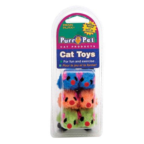 Penn Plax Purr-Pet Fuzzy Mice Pet Toy