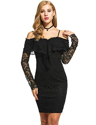 next black and pink lace dress - 1