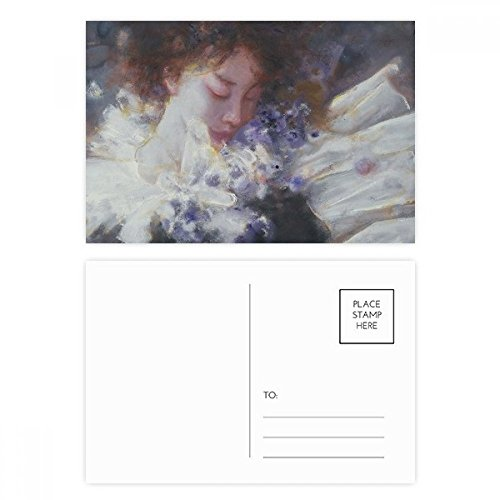 Dream Oil Painting - Dream Away XJJ Oil Painting Postcard Set Birthday Thanks Card Mailing Side 20pcs