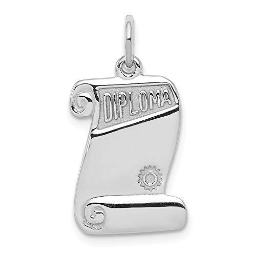 Mia Diamonds 925 Sterling Silver Diploma Charm (24mm x 13mm) ()