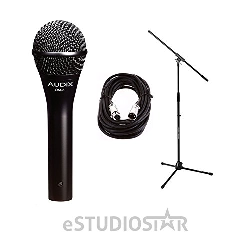 OM3 Dynamic Vocal Mic w/20ft XLR Cable and Stand by Audix