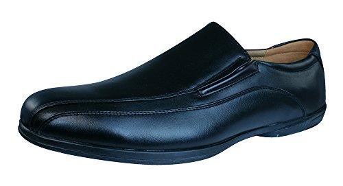 Walking Plantilla Piel Chaussures Hommes-BLACK-44
