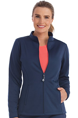 Med Couture Women's Bonded Fleece Med Tech Warm Up Jacket, New Navy, Medium