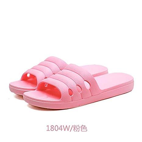 YMFIE Donna bagni doccia antislittamento pantofole home schiuma morbida suola sandali per la piscina scarpe,41,Rosa