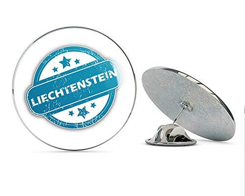 Liechtenstein Grunge Stamp Round Metal 0.75