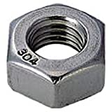 TRUSCO(トラスコ) 六角ナット1種 ステンレス サイズW3/8×16山 16個入 B25-0318