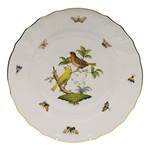 Herend Rothschild Bird Porcelain Dinner Plate Motif #6