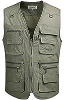 Mright Mens Pockets Jacket Outdoors Travels Sports Vest Tops