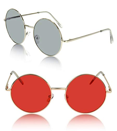 Festival Sunglasses For Women 90's 50's 70's Glasses Clothing Clothes Party Red -