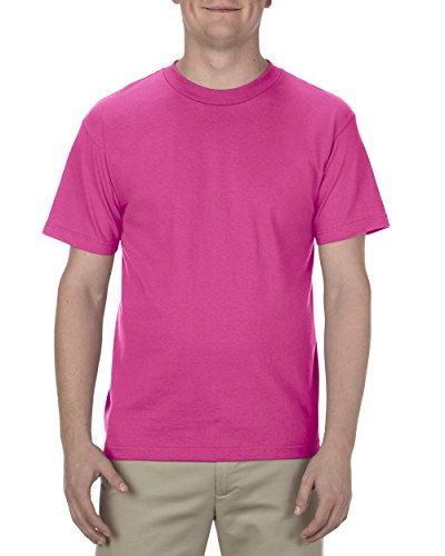 (Alstyle Apparel AAA Men's Classic Cotton Short Sleeve T-shirt, Hot Pink, 2XL)