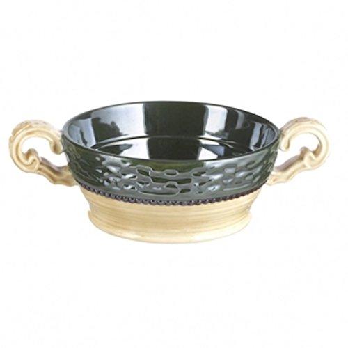 Large Celtic Ceramic Soup Bowl - Good To The Last Drop