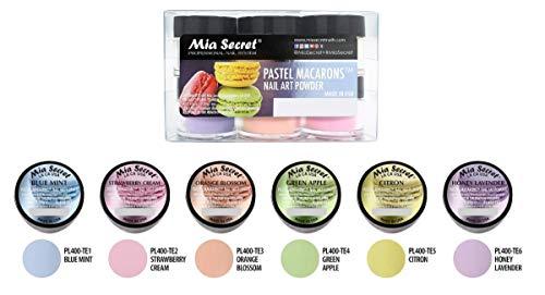 Mia Secret Pastel Macarons Nail Art Powder 6 pc Set